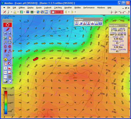 Marine Weather Map.Marine Weather Forecast And Oceanographic Conditions
